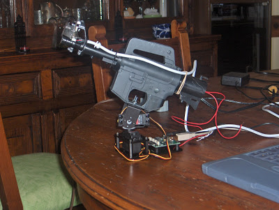Gun with Mount and Webcam