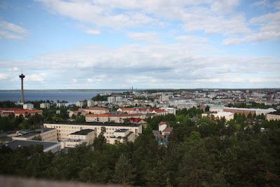 Photo of part of the city from the top of the tower at Pyynikki.