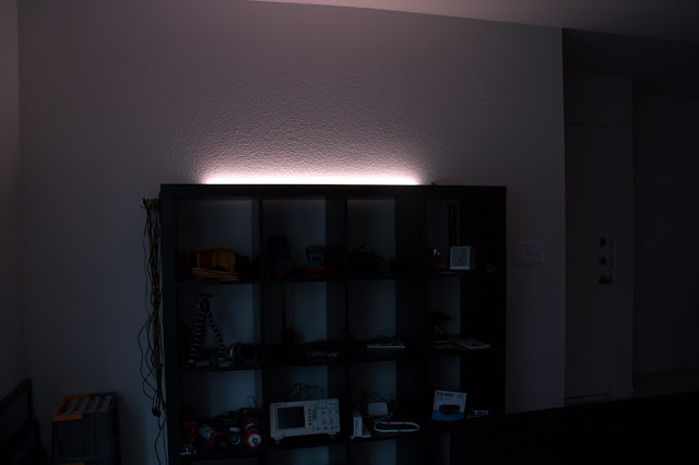 Shelf plus LED strip.