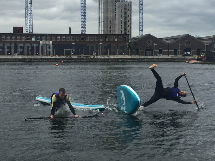 Paddle boarding in Dublin!