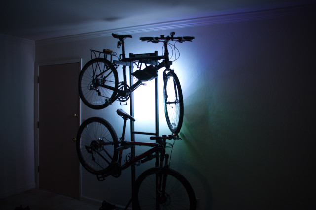 Lights on Bike Rack