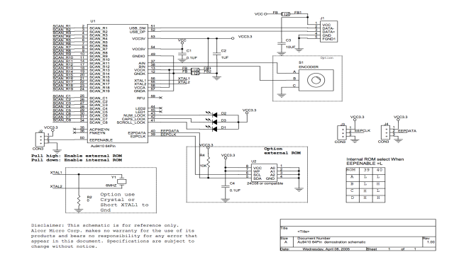 AU9410 Reference Schematic